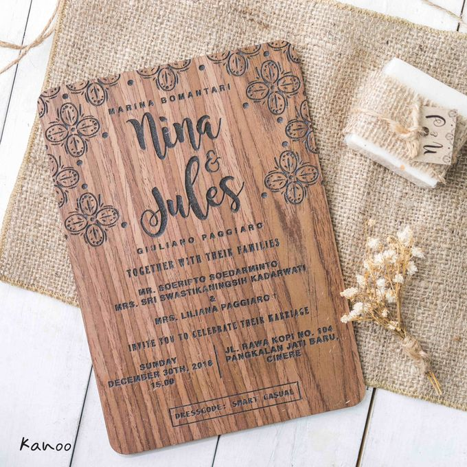 Wedding Invitation - Wood by Kanoo Paper & Gift - 005