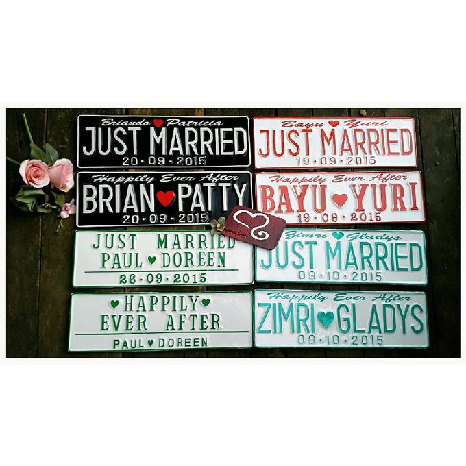 Wedding Car Plate by Sweetlovecollection - 029