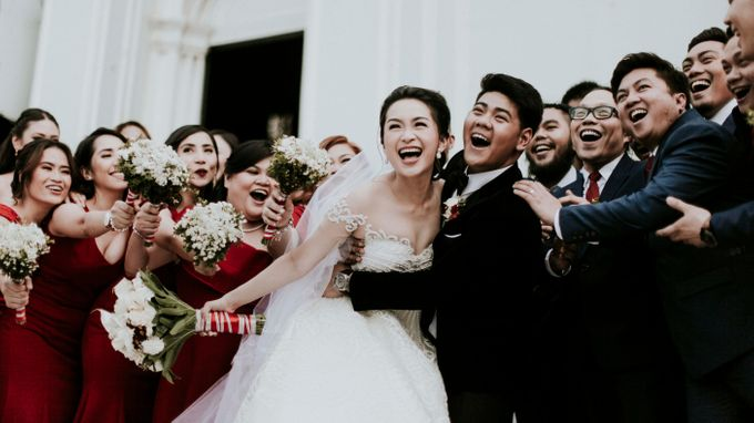 A fun wedding with a young couple based in singapore. by Thinking Chair Studios - 006