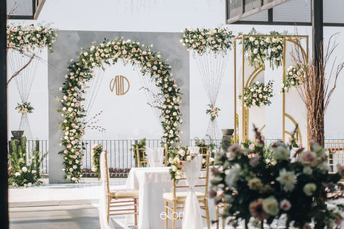 The Wedding of Novilia & Didik by Elior Design - 021