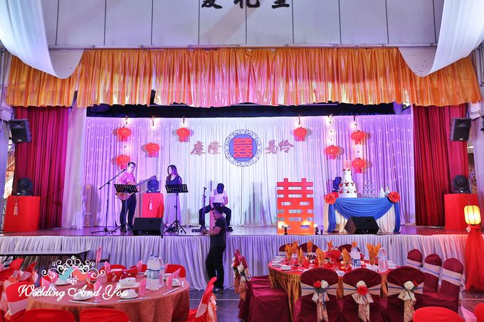 Stage Backdrop Design by Wedding And You - 011