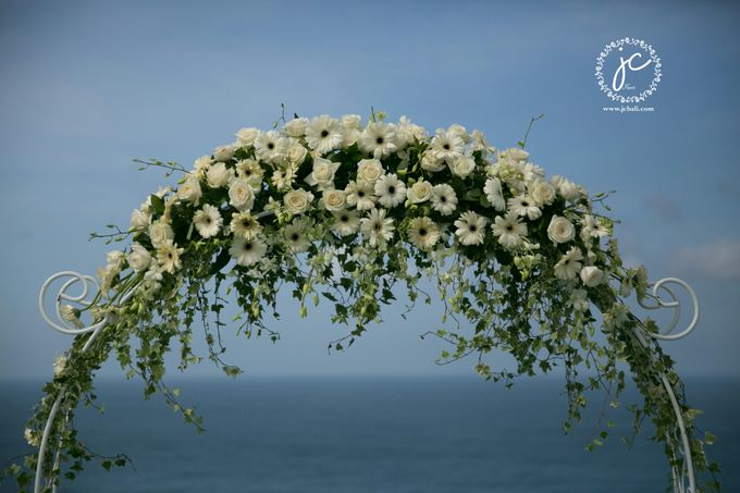 our chapel and water wedding decor by Jc Florist Bali - 027