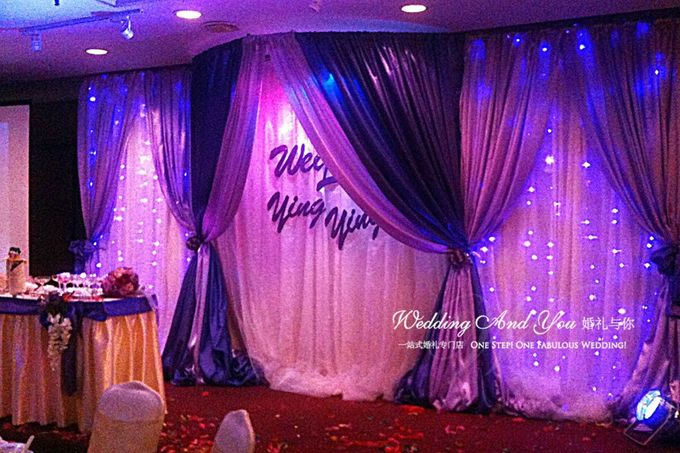 Stage Backdrop Design by Wedding And You - 028