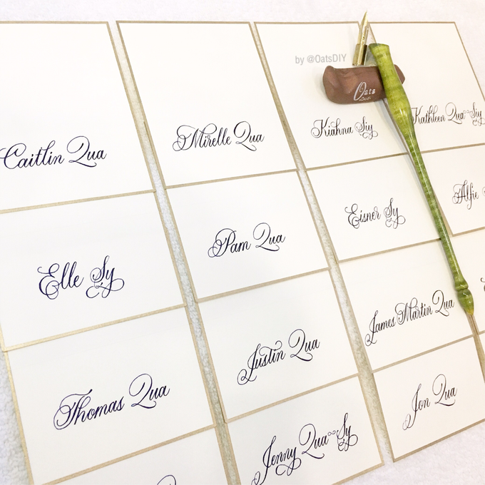 Customized Place Cards by Oats DIY - 001