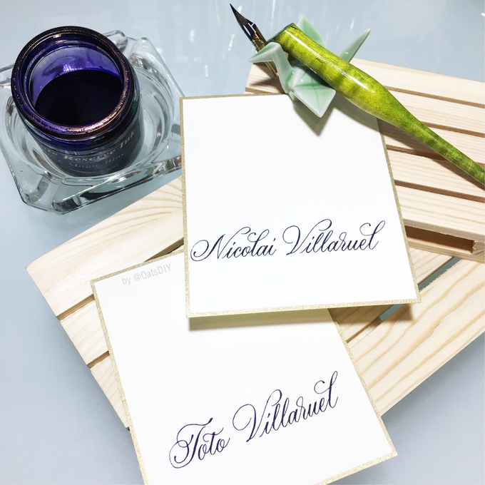 Customized Place Cards by Oats DIY - 002
