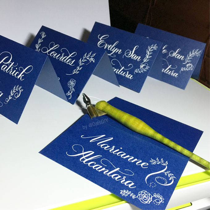 Customized Place Cards by Oats DIY - 006
