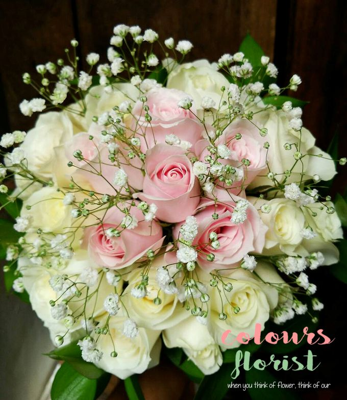 Wedding Hand Bouquet by Colours Florist - 006