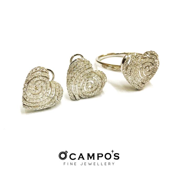 Diamond Set (Ring & Earrings) by Ocampo's Fine Jewellery - 001