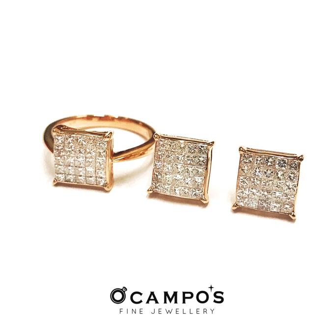 Diamond Set (Ring & Earrings) by Ocampo's Fine Jewellery - 003