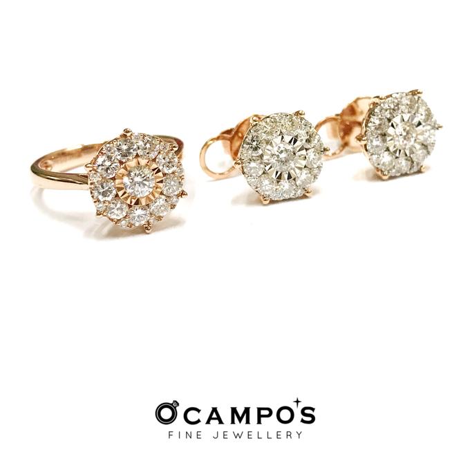 Diamond Set (Ring & Earrings) by Ocampo's Fine Jewellery - 011