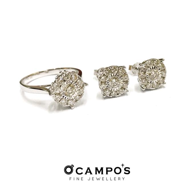 Diamond Set (Ring & Earrings) by Ocampo's Fine Jewellery - 013