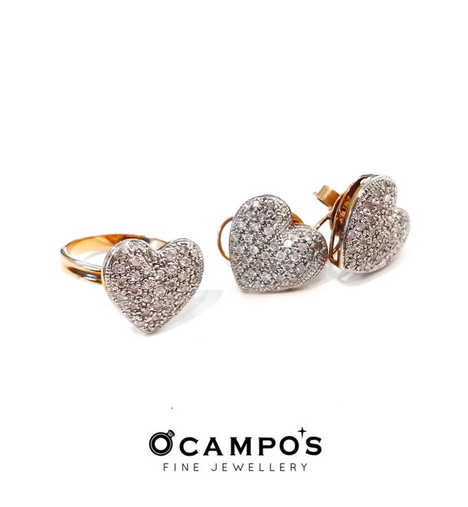 Diamond Set (Ring & Earrings) by Ocampo's Fine Jewellery - 014