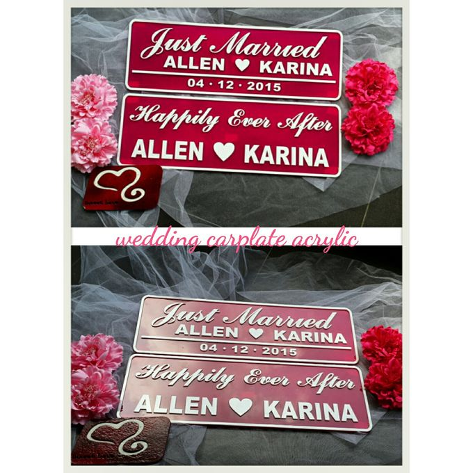 Wedding Car Plate by Sweetlovecollection - 010