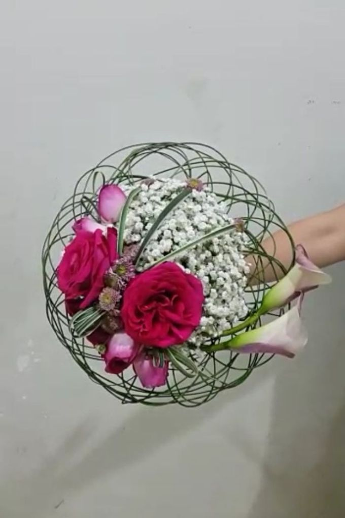 Pink Art Collection Bridal Bouquet by Amaryllis Floral Art - 001