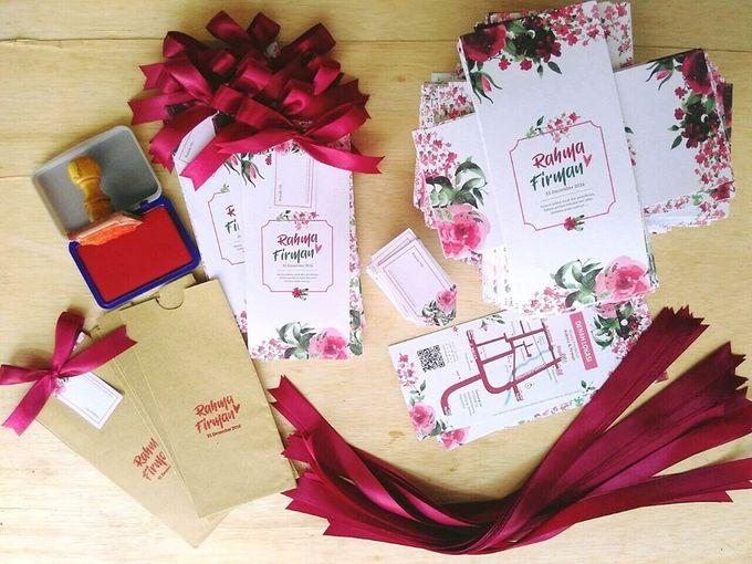 undangan handmade watercolor flowers by Merah Djamboe - 004