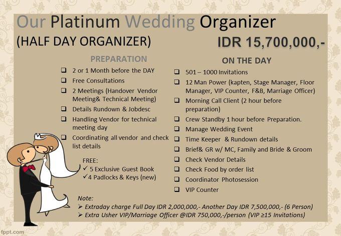 Pricelist The Organizer 2020 by Our Wedding & Event Organizer - 001