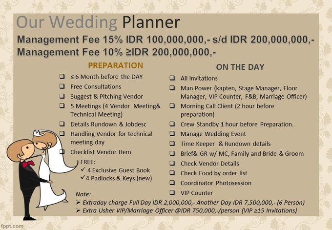 Pricelist The Organizer 2020 by Our Wedding & Event Organizer - 002
