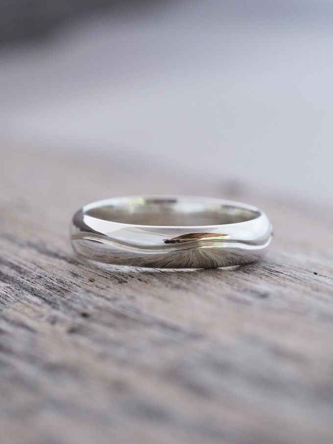Wedding Band in Silver by Gardens of the Sun - 011