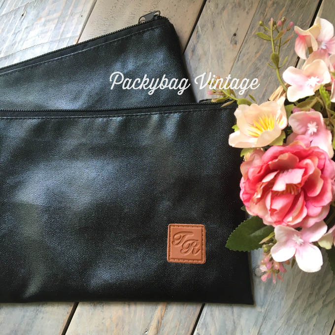TYA WEDDING // BLACK CORDURA with Emboss  by Packy Bag Vintage - 004