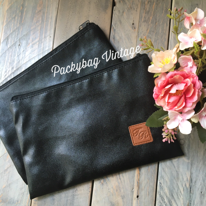 TYA WEDDING // BLACK CORDURA with Emboss  by Packy Bag Vintage - 002
