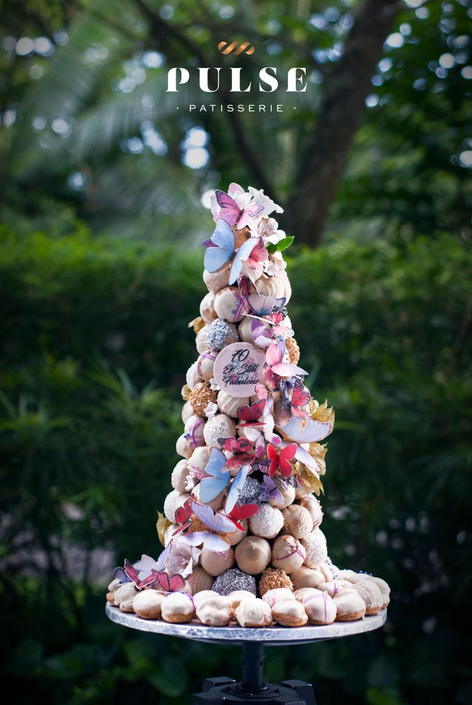Wedding CROQUEMBOUCHE -Cream Puff Tower by Pulse Patisserie - 016