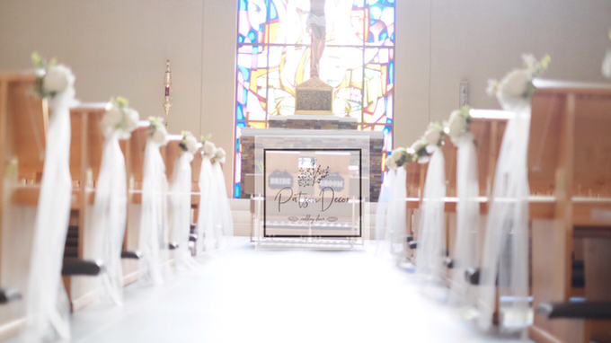 Church wedding, pews by us by Patson Decor - 002