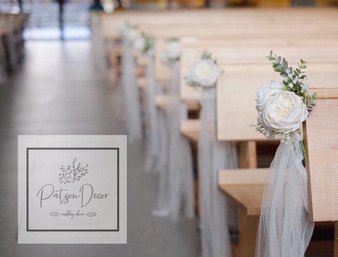 Church wedding, pews by us by Patson Decor - 001