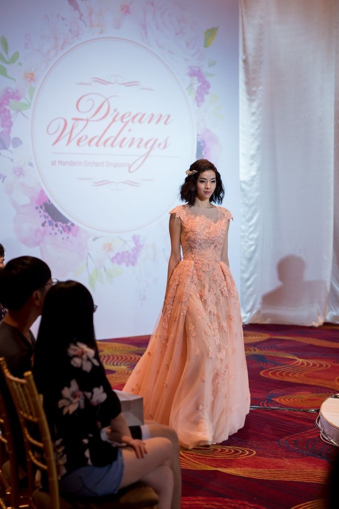 Bridal Gown Fashion Show At Mandarin Orchard Singapore by La Belle Couture Weddings Pte Ltd - 023