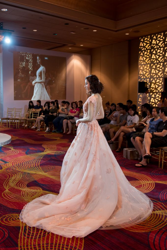 Bridal Gown Fashion Show At Mandarin Orchard Singapore by La Belle Couture Weddings Pte Ltd - 024