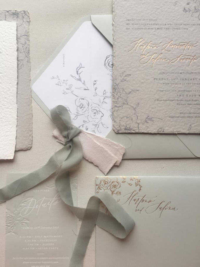 Dreamy deckle edge by Pensée invitation & stationery - 002