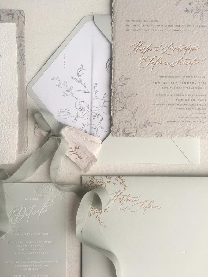 Dreamy deckle edge by Pensée invitation & stationery - 001