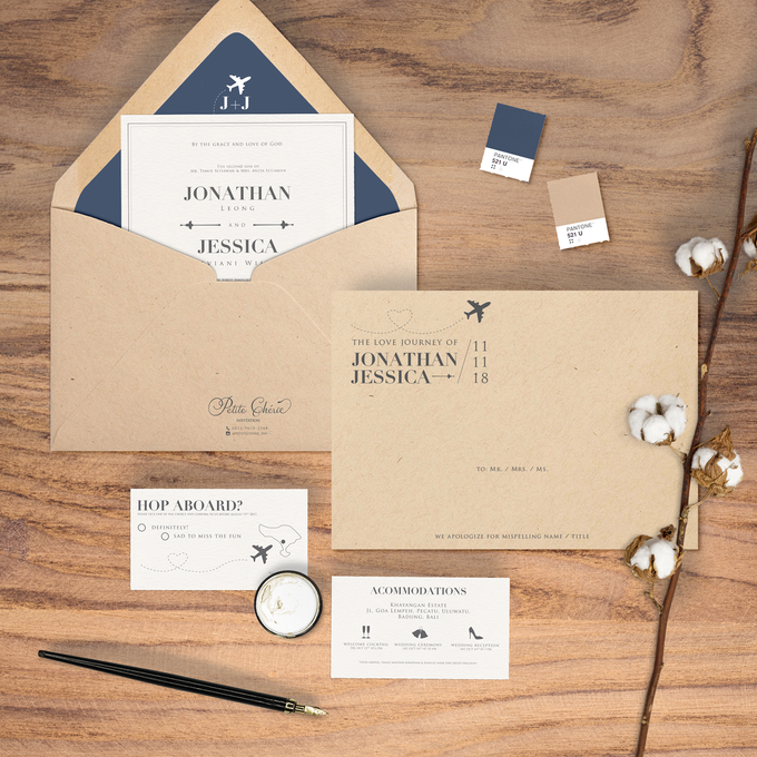 Jonathan & Jessica by Petite Chérie Invitation - 001