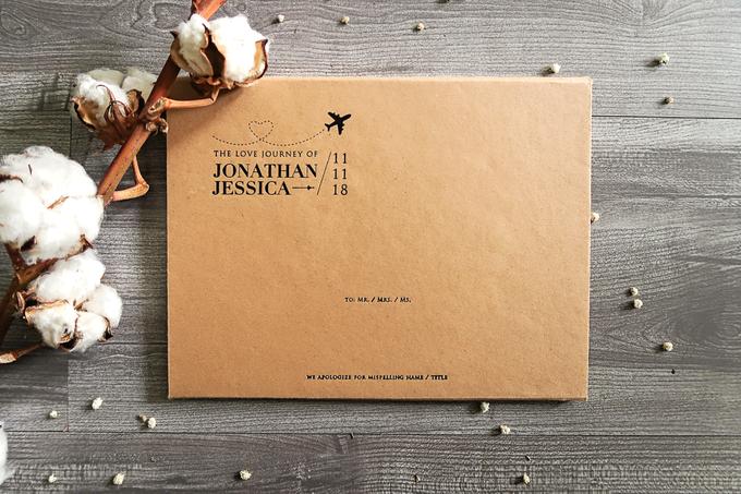 Jonathan & Jessica (no envelope type) by Petite Chérie Invitation - 003