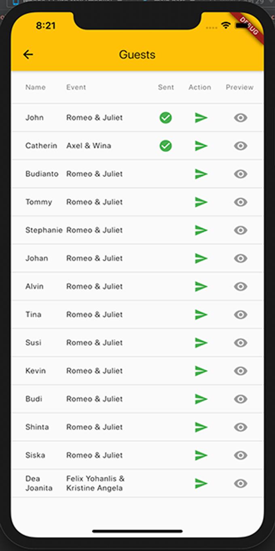 Guest Attendance Workflow by Wedbio.com - elegant wedding website & online rsvp - 005