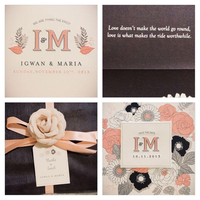 The Wedding of Igwan & Maria by PAM'S INVITATIONS & STATIONERY - 001