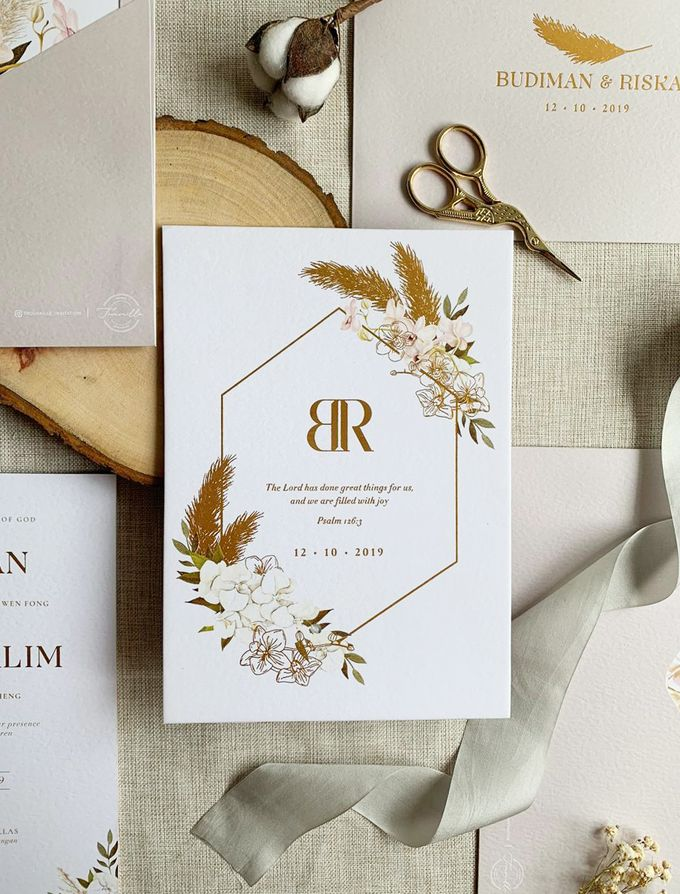 Bohemian Pampas by Trouvaille Invitation - 001
