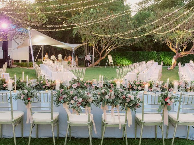 All-white Beach Wedding by IAMFLOWER - 021