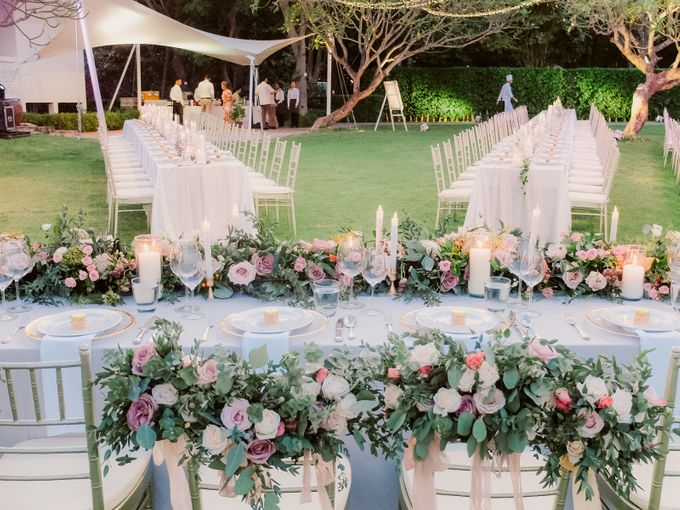 All-white Beach Wedding by IAMFLOWER - 022