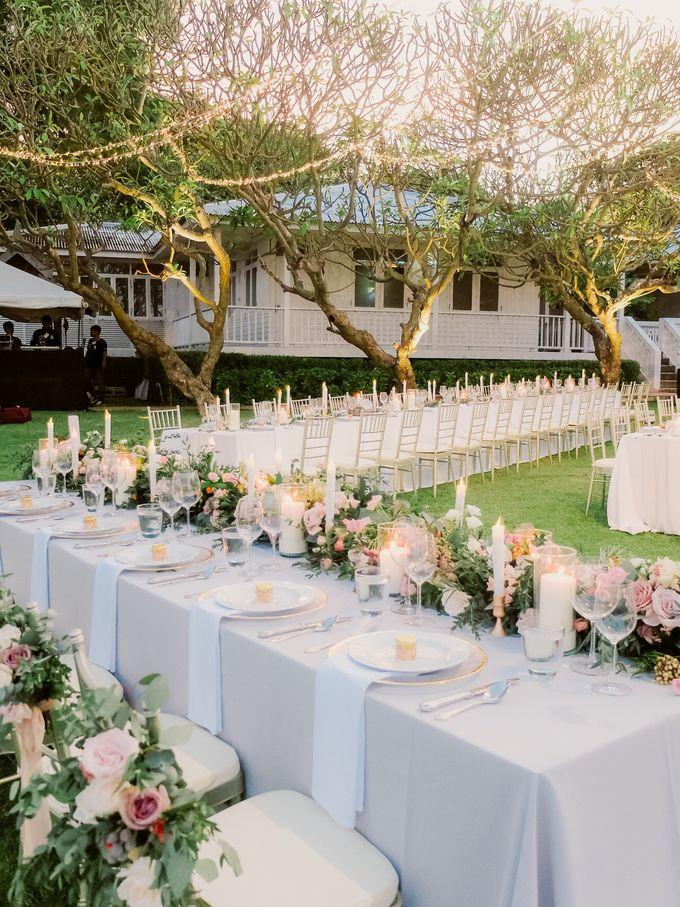 All-white Beach Wedding by IAMFLOWER - 023
