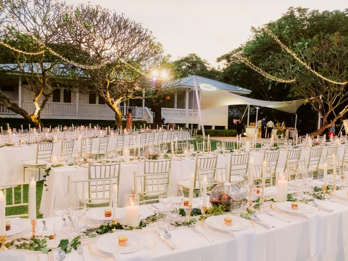 All-white Beach Wedding by IAMFLOWER - 025