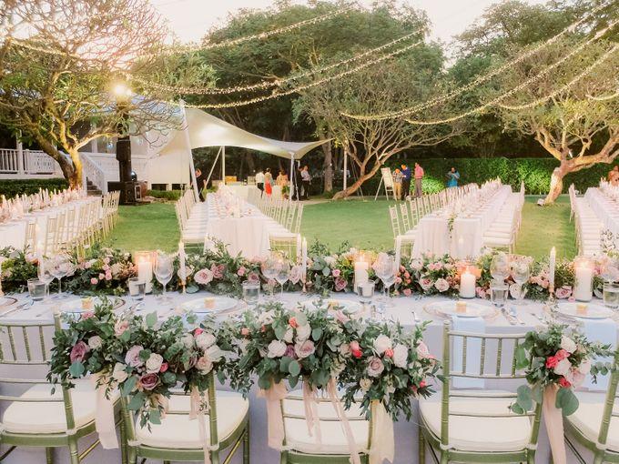 All-white Beach Wedding by IAMFLOWER - 026