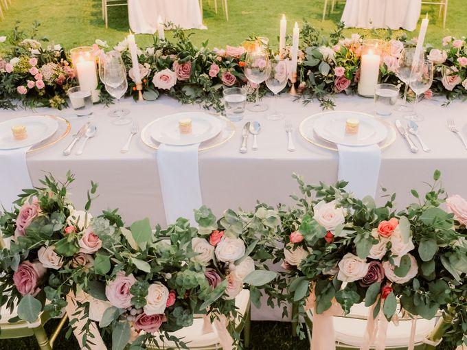 All-white Beach Wedding by IAMFLOWER - 027