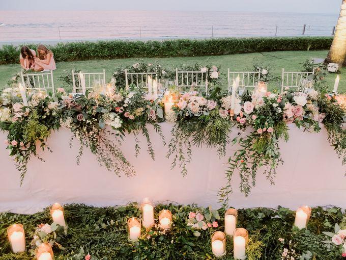 All-white Beach Wedding by IAMFLOWER - 028