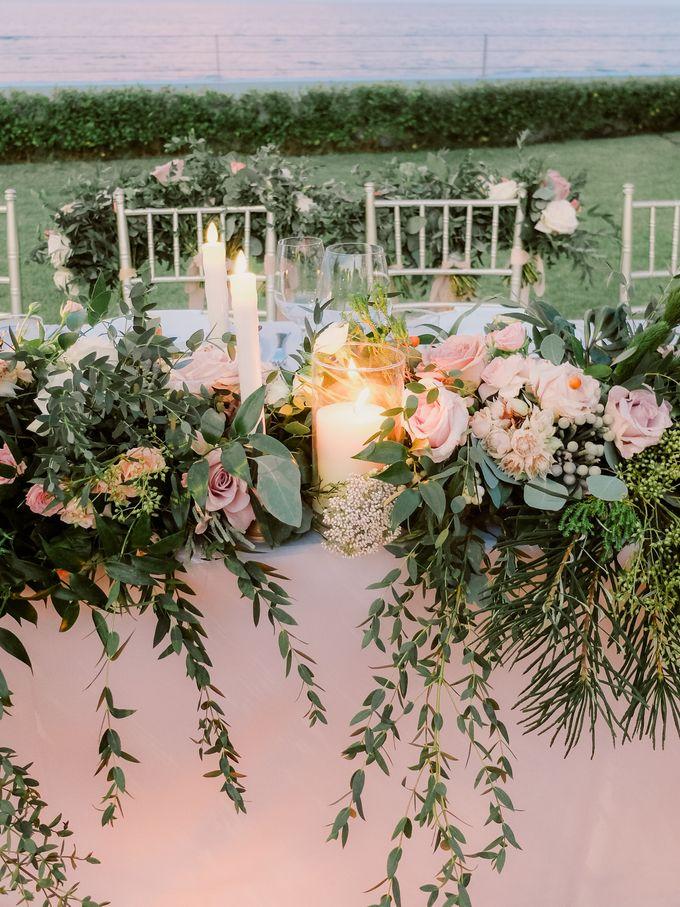 All-white Beach Wedding by IAMFLOWER - 029