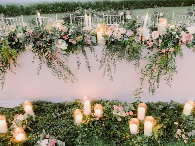 All-white Beach Wedding by IAMFLOWER - 030