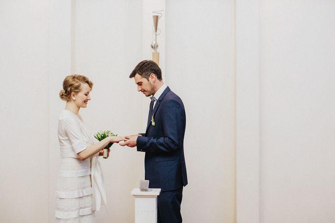 Olga and Volker Rainy Day Wedding by Dasha Elfutina - 006