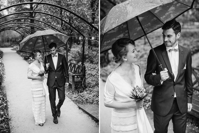Olga and Volker Rainy Day Wedding by Dasha Elfutina - 013