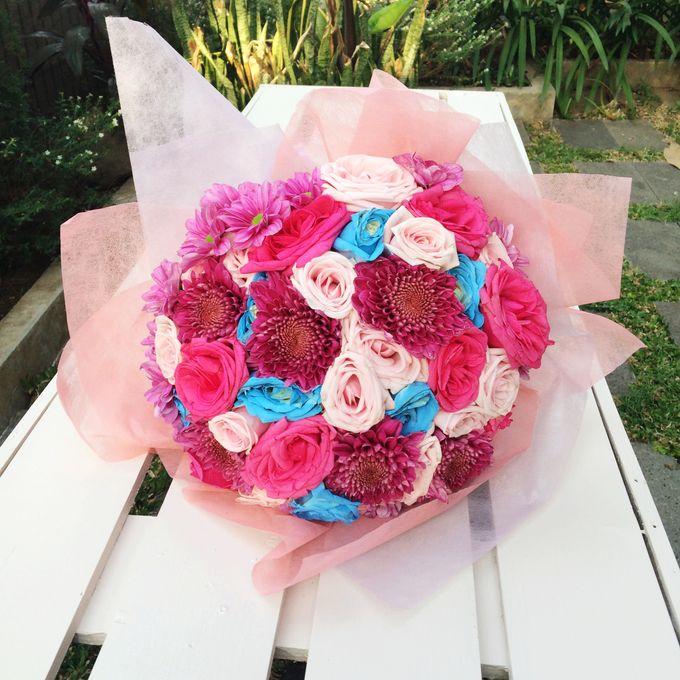 Colored Flowers by Les Fleur Flower Design - 014