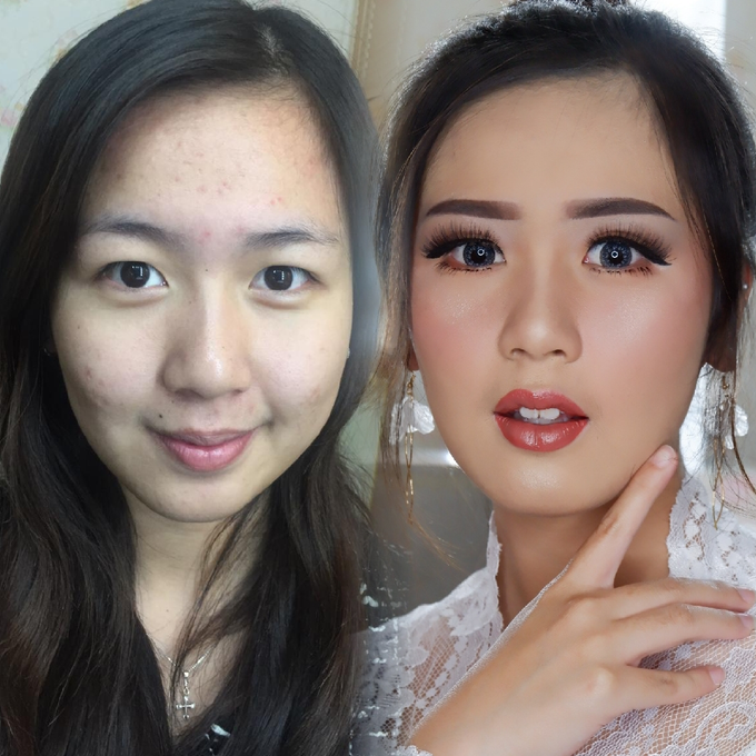 Natural Wedding Makeup 2019 by AngeLin Bridal - 003