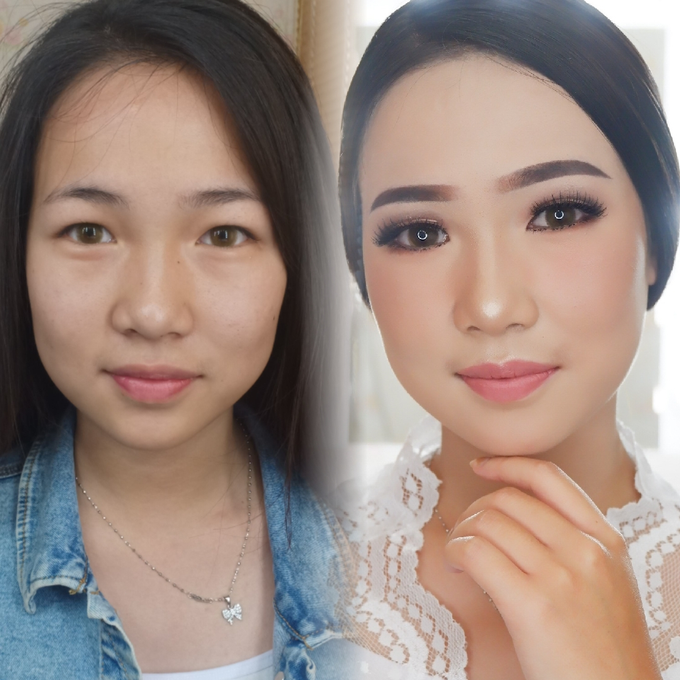 Natural Wedding Makeup 2019 by AngeLin Bridal - 001